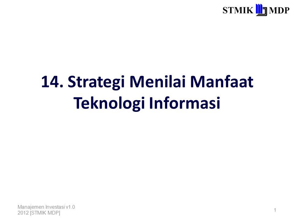14. Strategi Menilai Manfaat Teknologi Informasi
