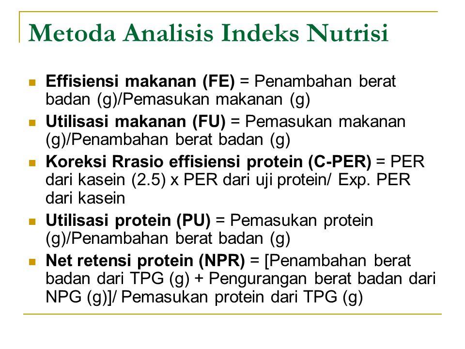 Metoda Analisis Indeks Nutrisi