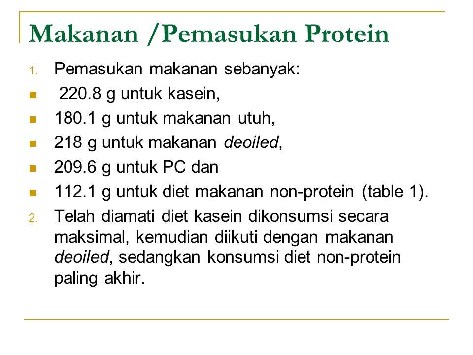 Makanan /Pemasukan Protein