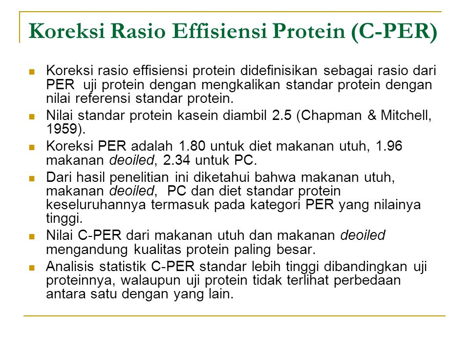 Koreksi Rasio Effisiensi Protein (C-PER)
