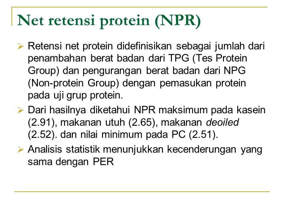 Net retensi protein (NPR)