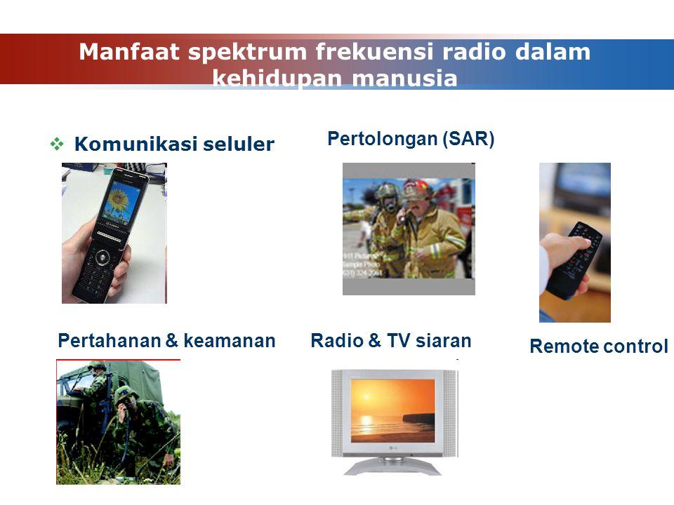 Manfaat spektrum frekuensi radio dalam kehidupan manusia