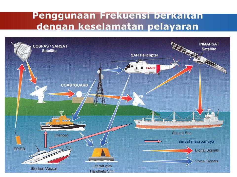 Penggunaan Frekuensi berkaitan dengan keselamatan pelayaran