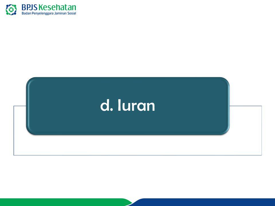 d. Iuran