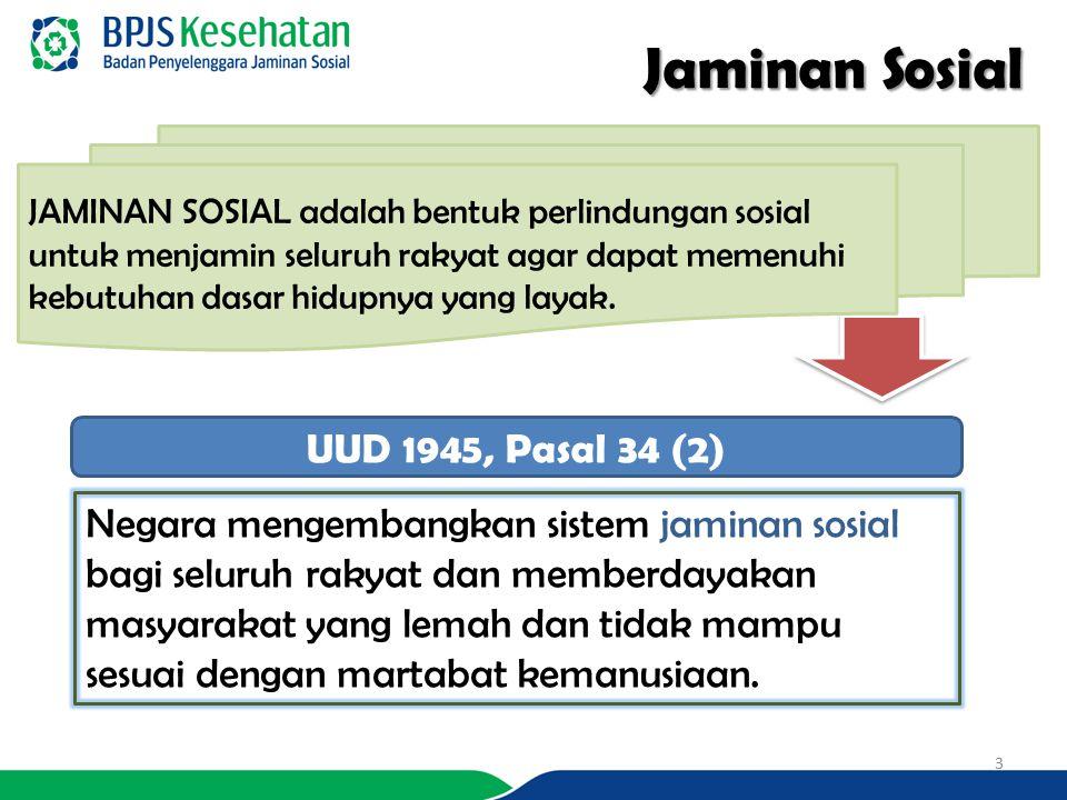 Jaminan Sosial UUD 1945, Pasal 34 (2)