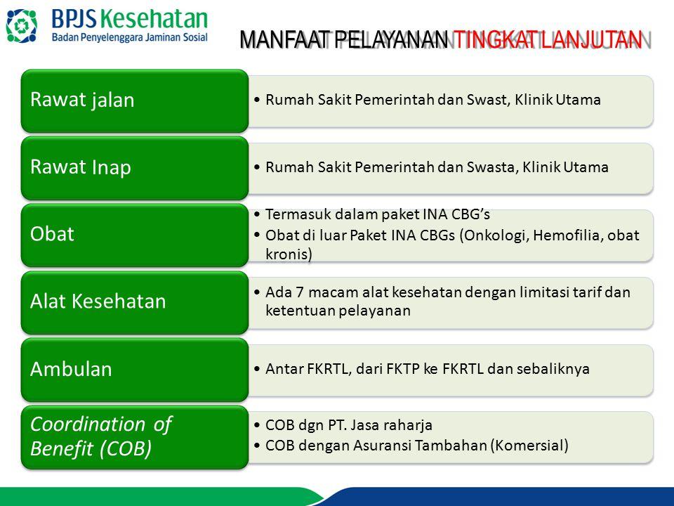 Rawat jalan Rawat Inap Obat Alat Kesehatan Ambulan Coordination of