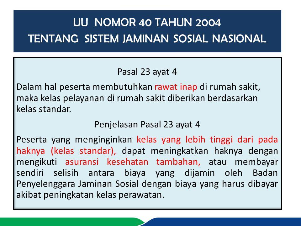 TENTANG SISTEM JAMINAN SOSIAL NASIONAL