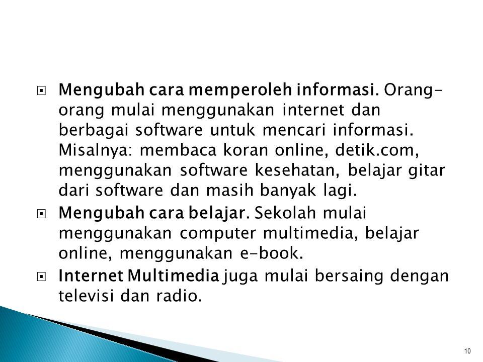 Mengubah cara memperoleh informasi