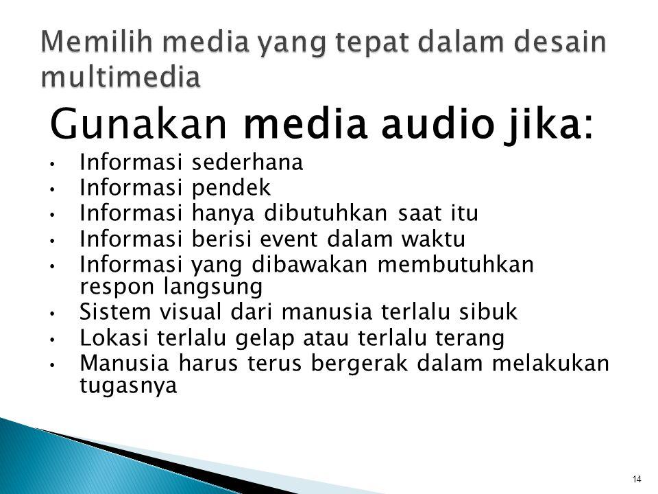 Memilih media yang tepat dalam desain multimedia