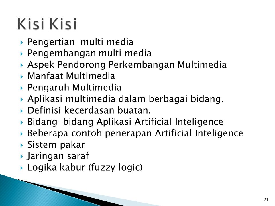 Kisi Kisi Pengertian multi media Pengembangan multi media