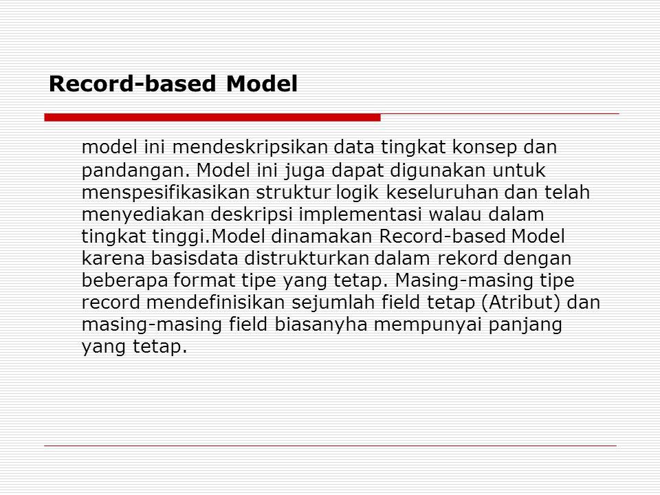 Record-based Model