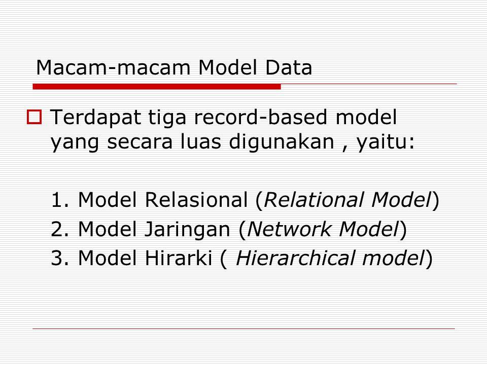 Macam-macam Model Data