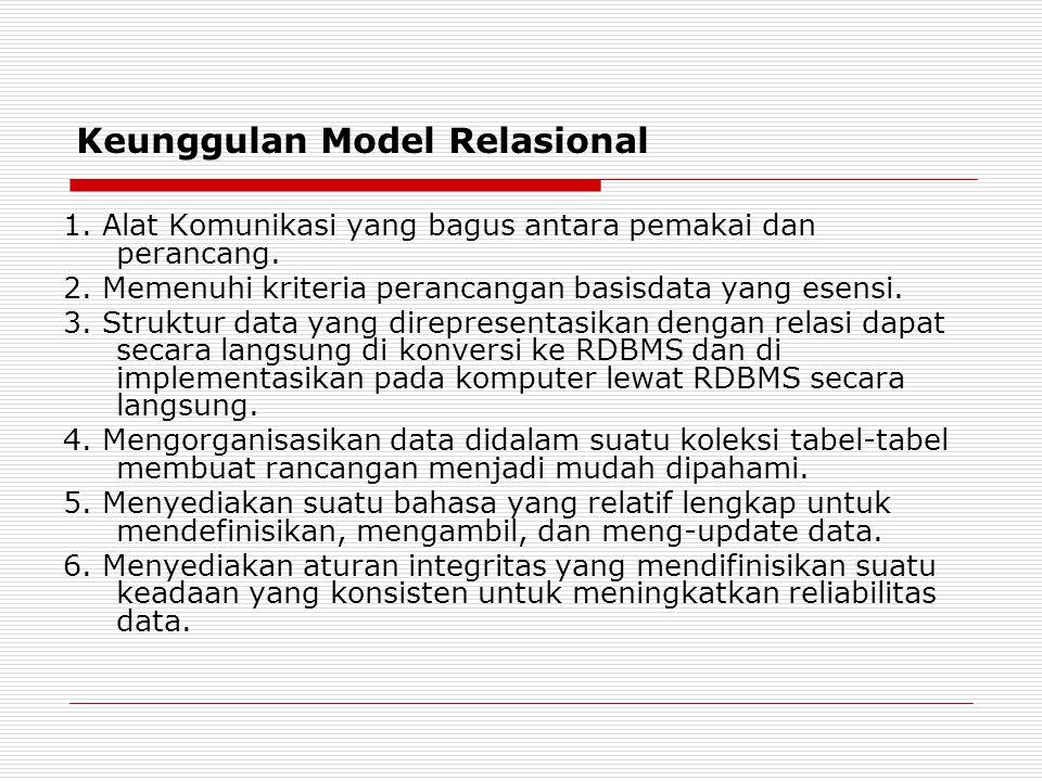Keunggulan Model Relasional