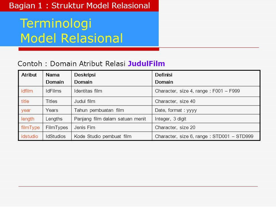 Bagian 1 : Struktur Model Relasional