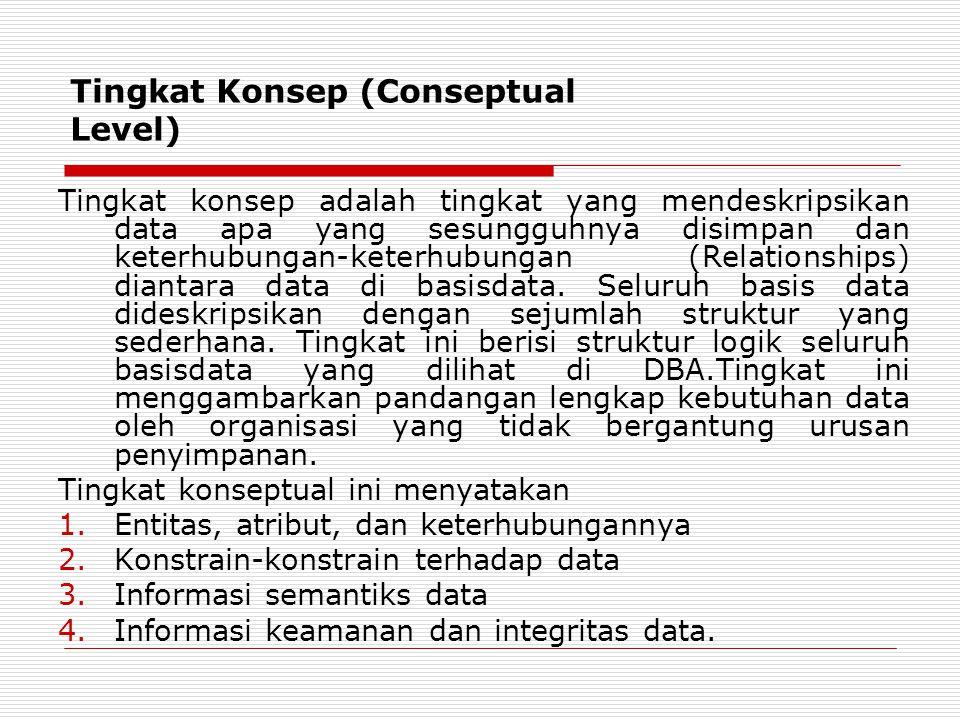 Tingkat Konsep (Conseptual Level)