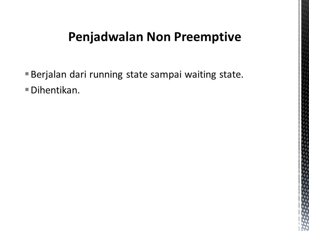 Penjadwalan Non Preemptive
