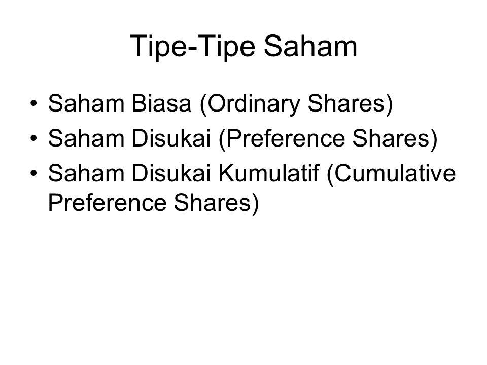 Tipe-Tipe Saham Saham Biasa (Ordinary Shares)