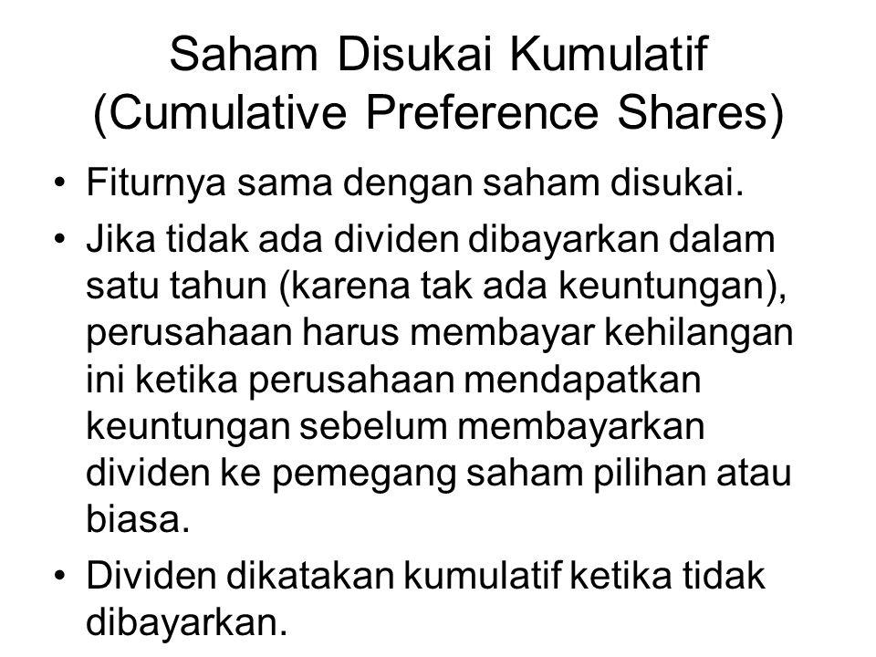Saham Disukai Kumulatif (Cumulative Preference Shares)