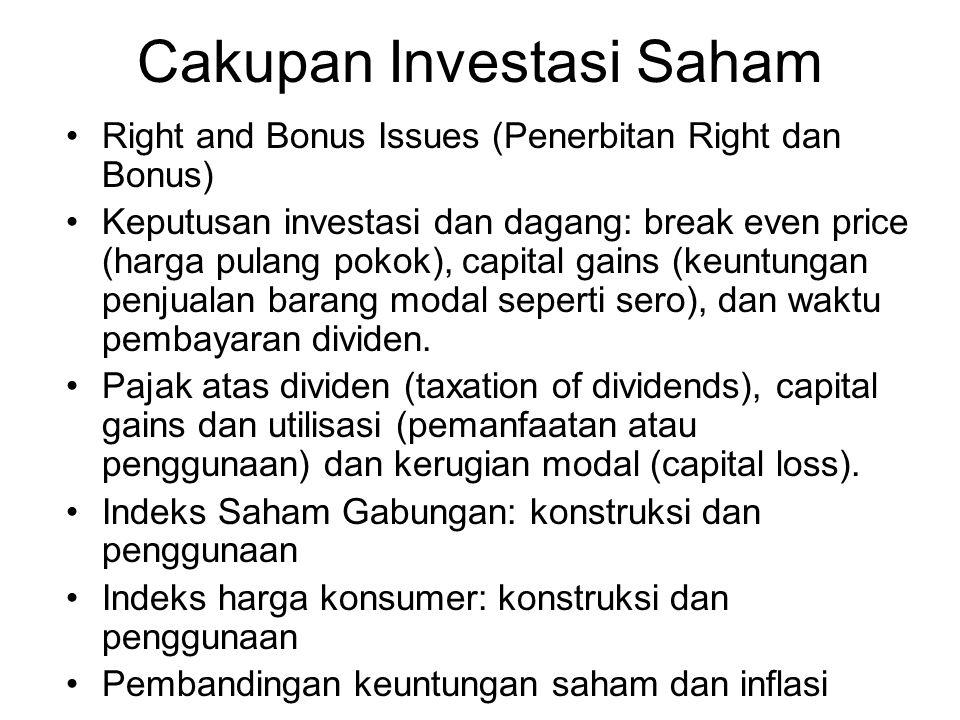 Cakupan Investasi Saham