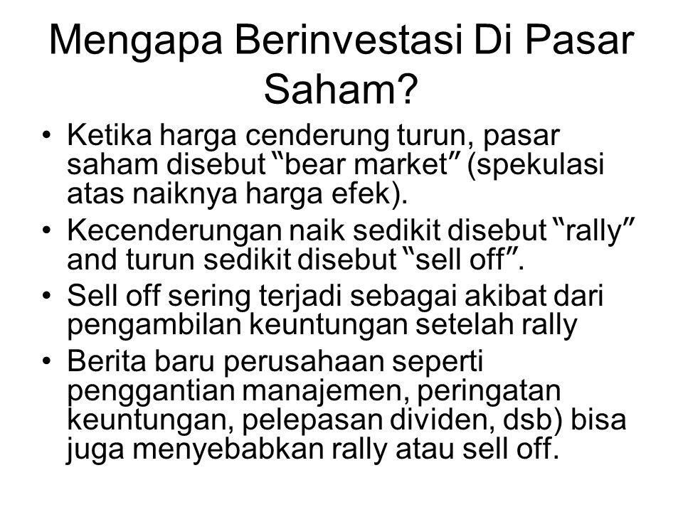 Mengapa Berinvestasi Di Pasar Saham