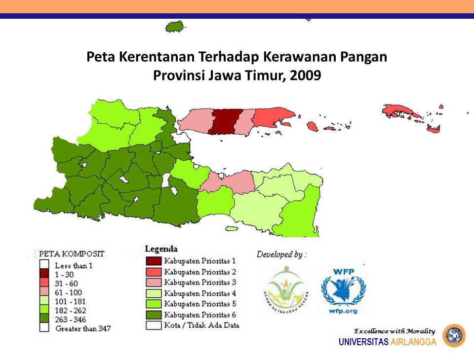 Peta Kerentanan Terhadap Kerawanan Pangan Provinsi Jawa Timur, 2009