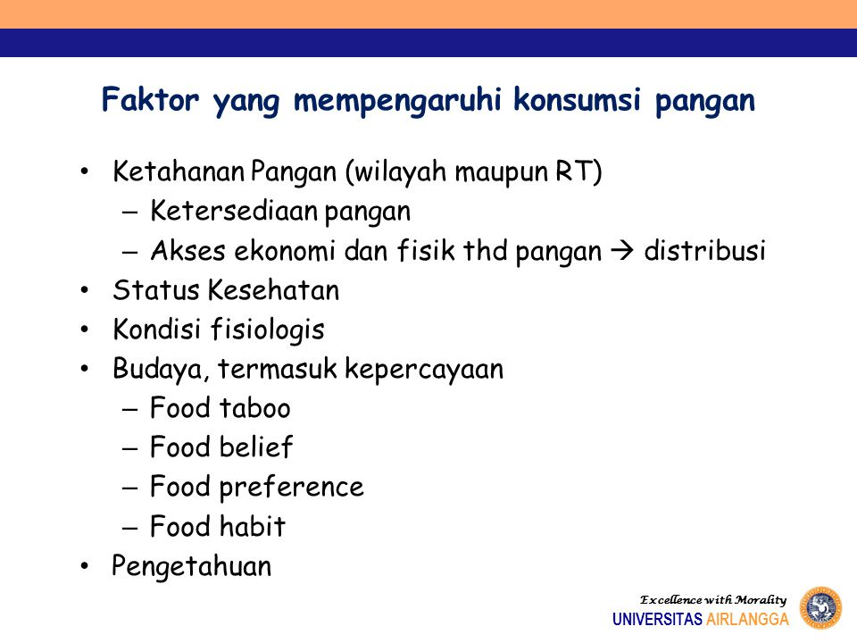 Faktor yang mempengaruhi konsumsi pangan