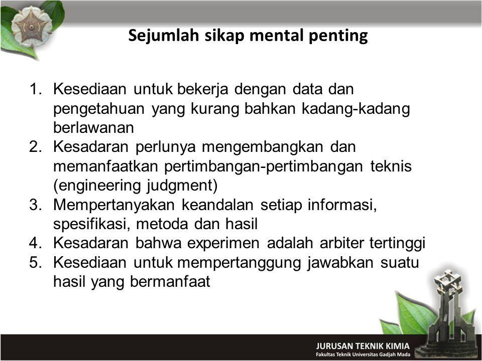 Sejumlah sikap mental penting