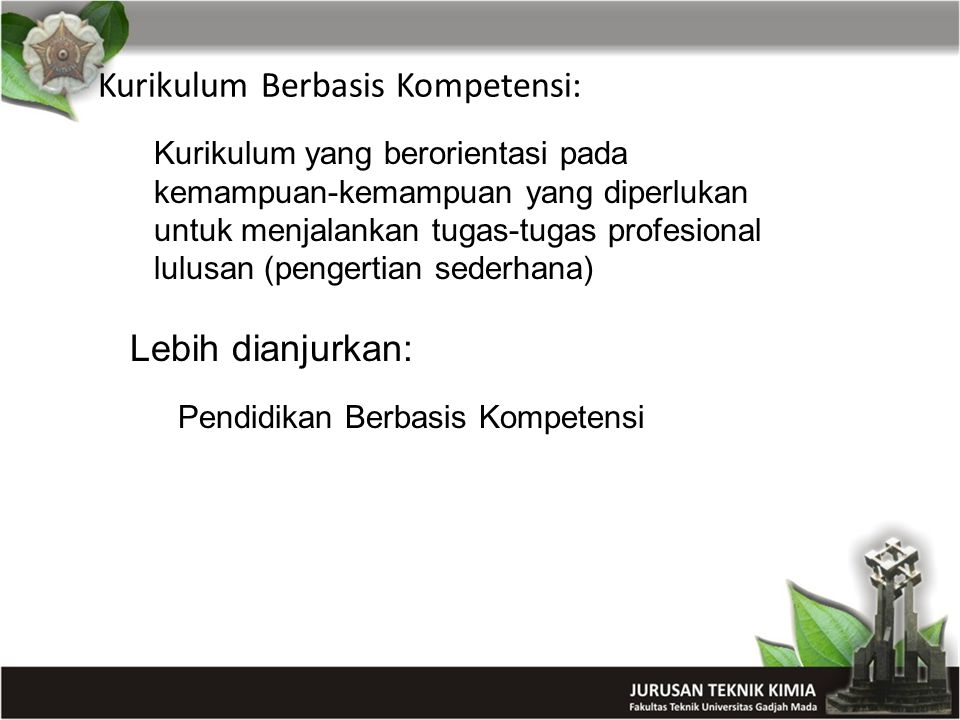 Kurikulum Berbasis Kompetensi: