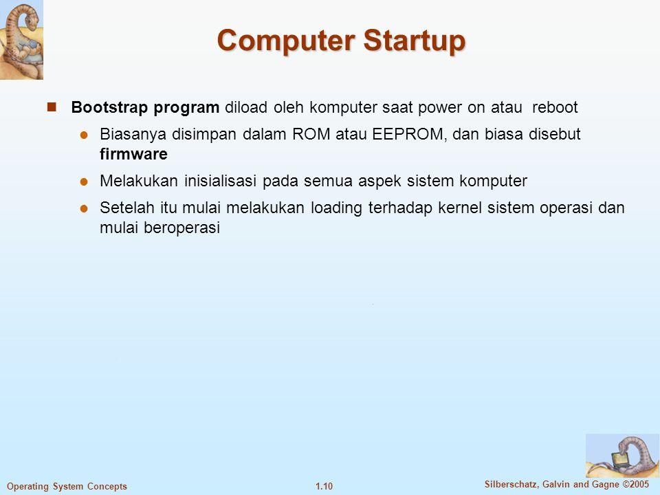 Computer Startup Bootstrap program diload oleh komputer saat power on atau reboot.