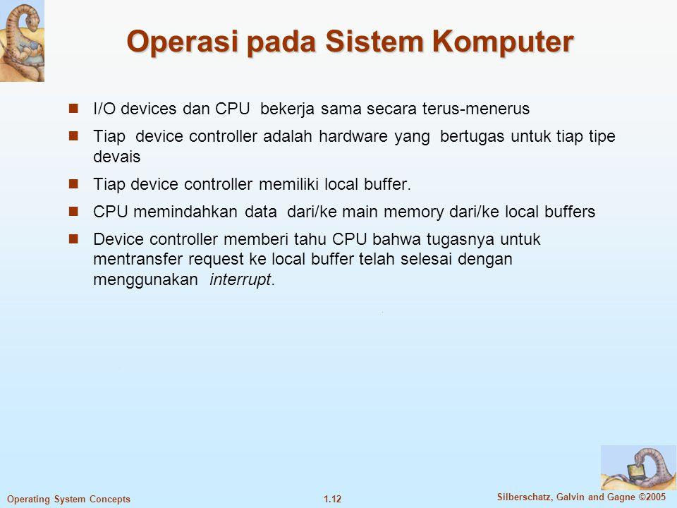 Operasi pada Sistem Komputer