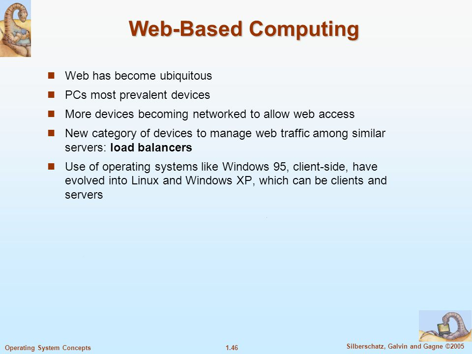 Web-Based Computing Web has become ubiquitous
