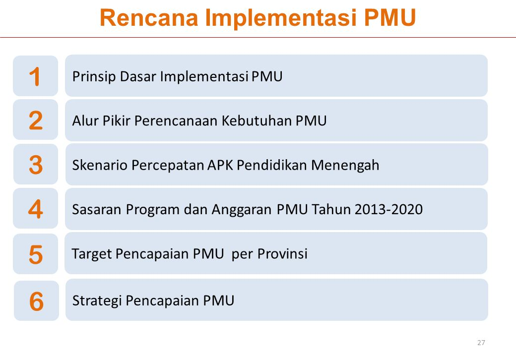 Rencana Implementasi PMU