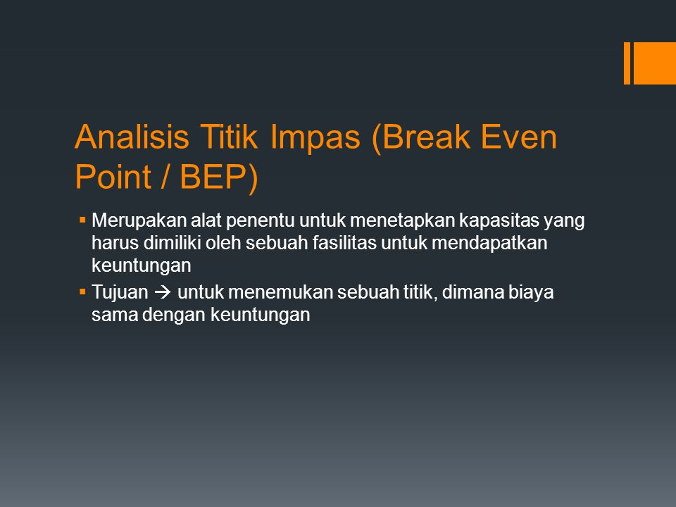 Analisis Titik Impas (Break Even Point / BEP)