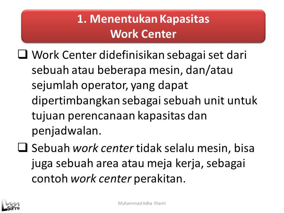 1. Menentukan Kapasitas Work Center