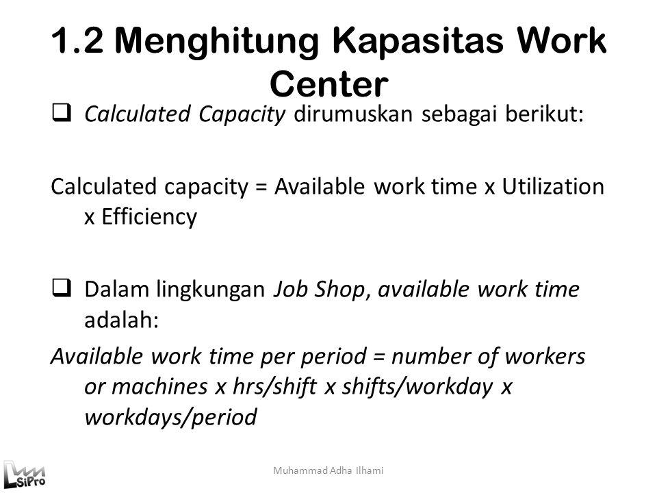 1.2 Menghitung Kapasitas Work Center