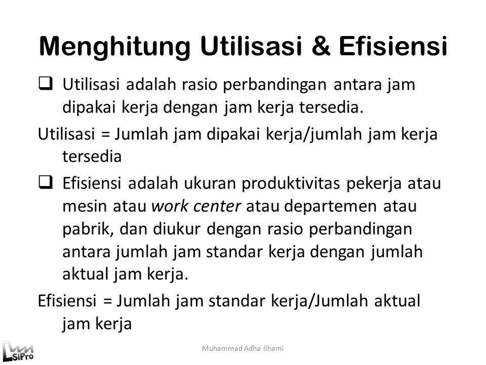 Menghitung Utilisasi & Efisiensi