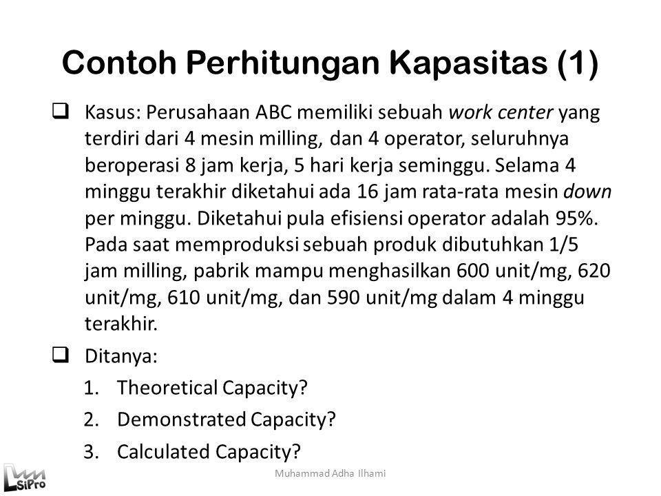 Contoh Perhitungan Kapasitas (1)