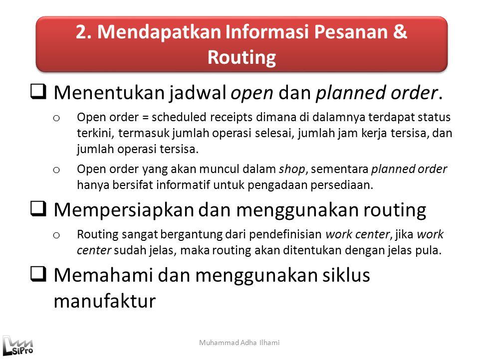 2. Mendapatkan Informasi Pesanan & Routing