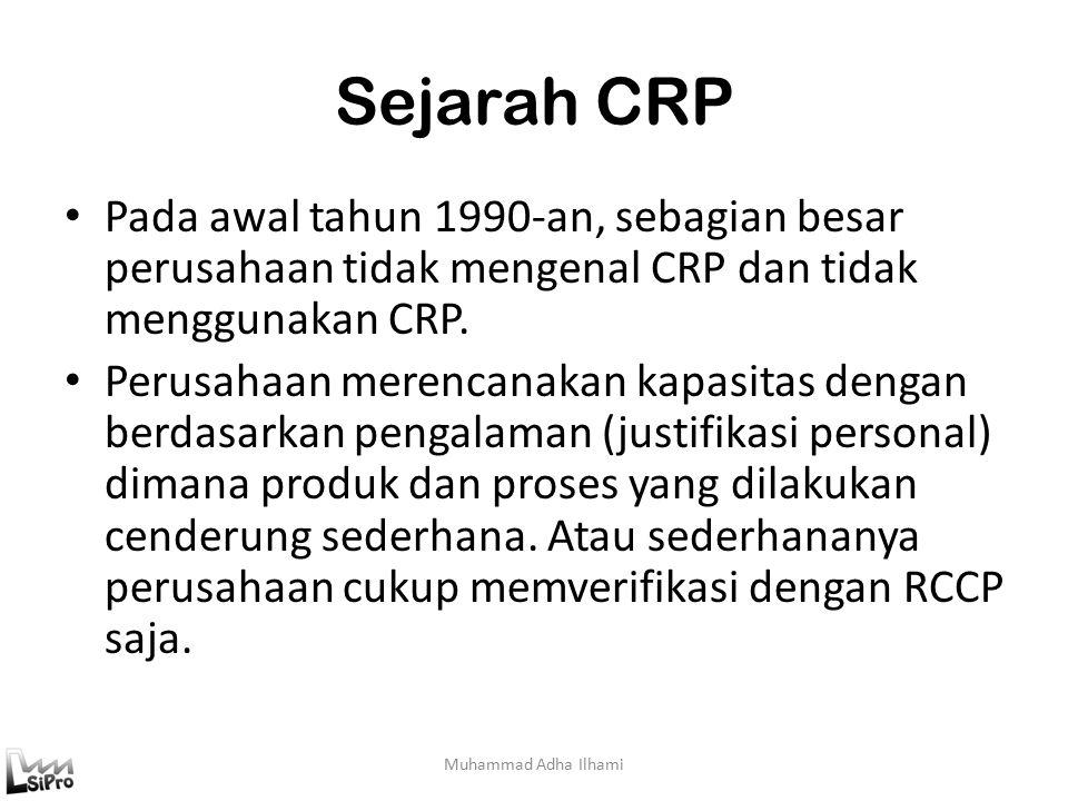 Sejarah CRP Pada awal tahun 1990-an, sebagian besar perusahaan tidak mengenal CRP dan tidak menggunakan CRP.