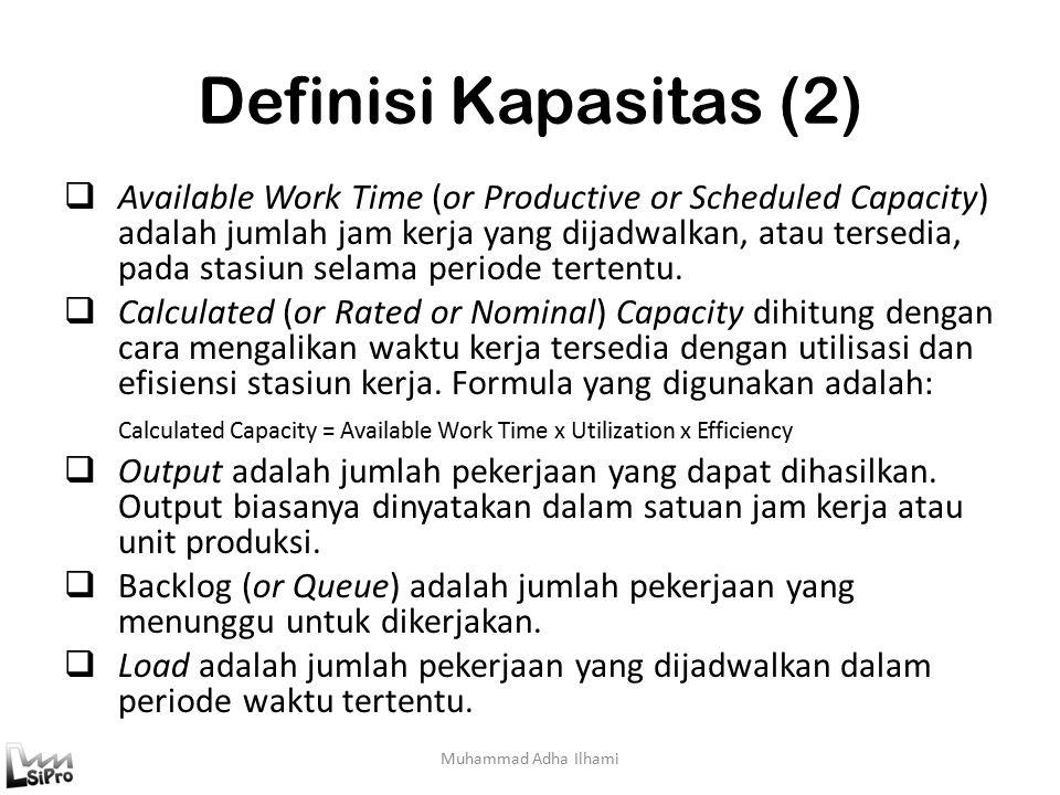 Definisi Kapasitas (2)