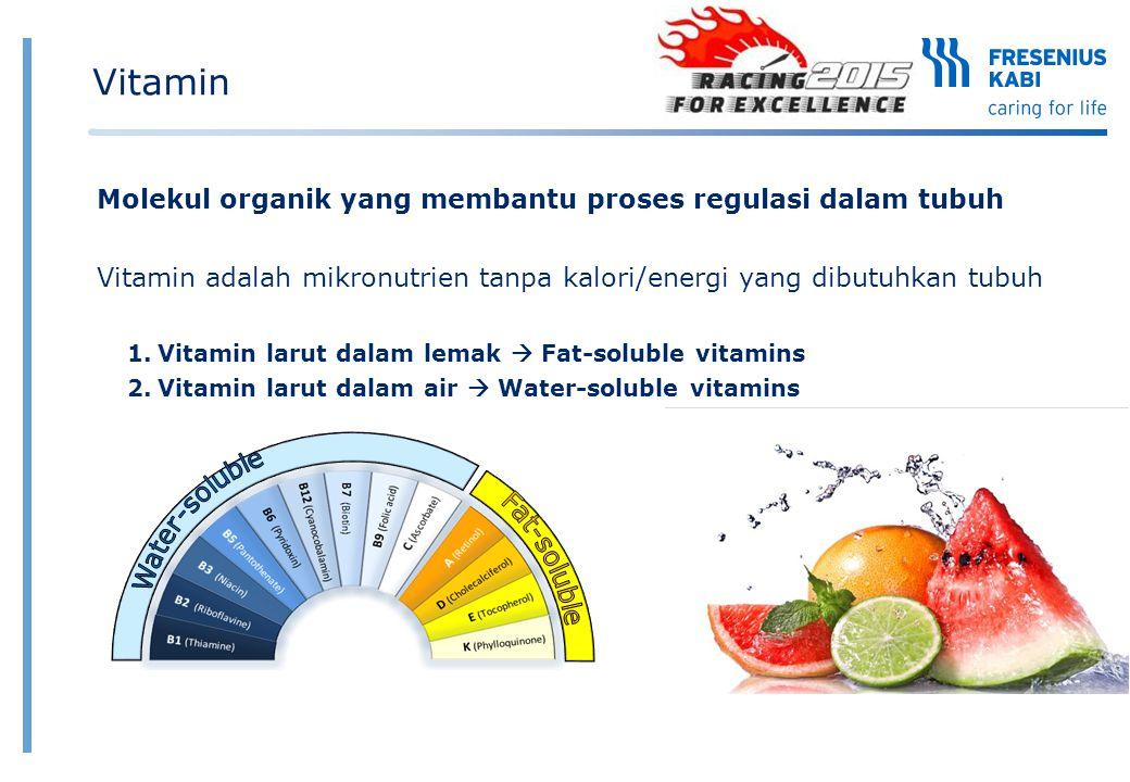 Vitamin Molekul organik yang membantu proses regulasi dalam tubuh