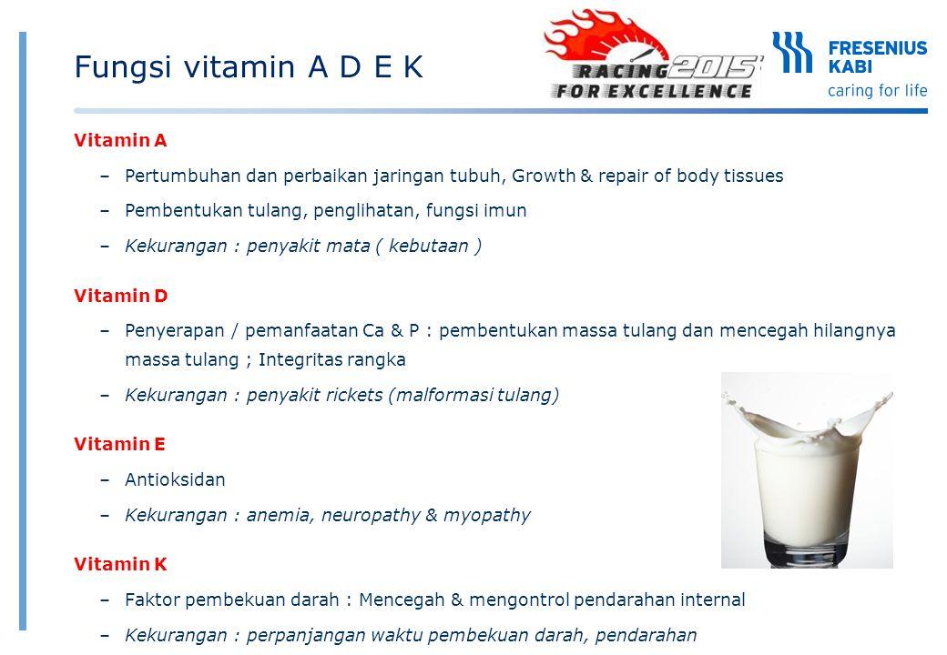 Fungsi vitamin A D E K Vitamin A