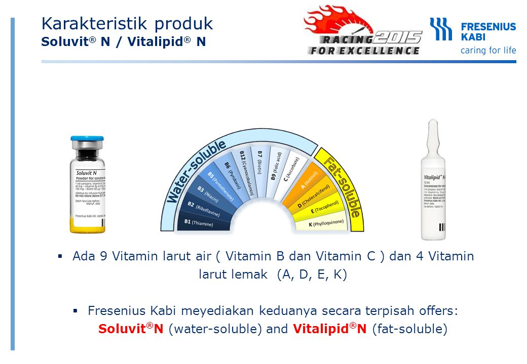Karakteristik produk Soluvit® N / Vitalipid® N