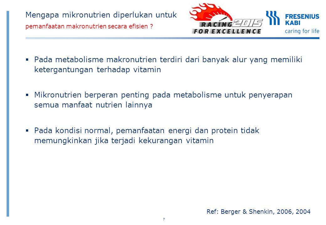 Mengapa mikronutrien diperlukan untuk pemanfaatan makronutrien secara efisien