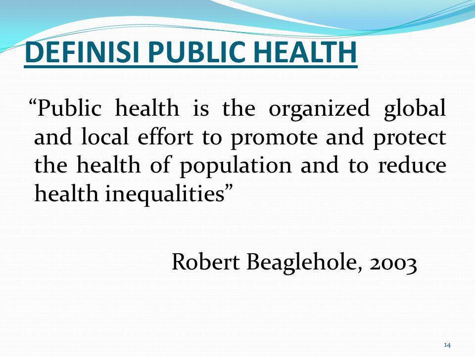 DEFINISI PUBLIC HEALTH