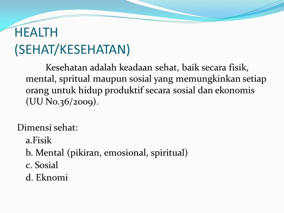 HEALTH (SEHAT/KESEHATAN)