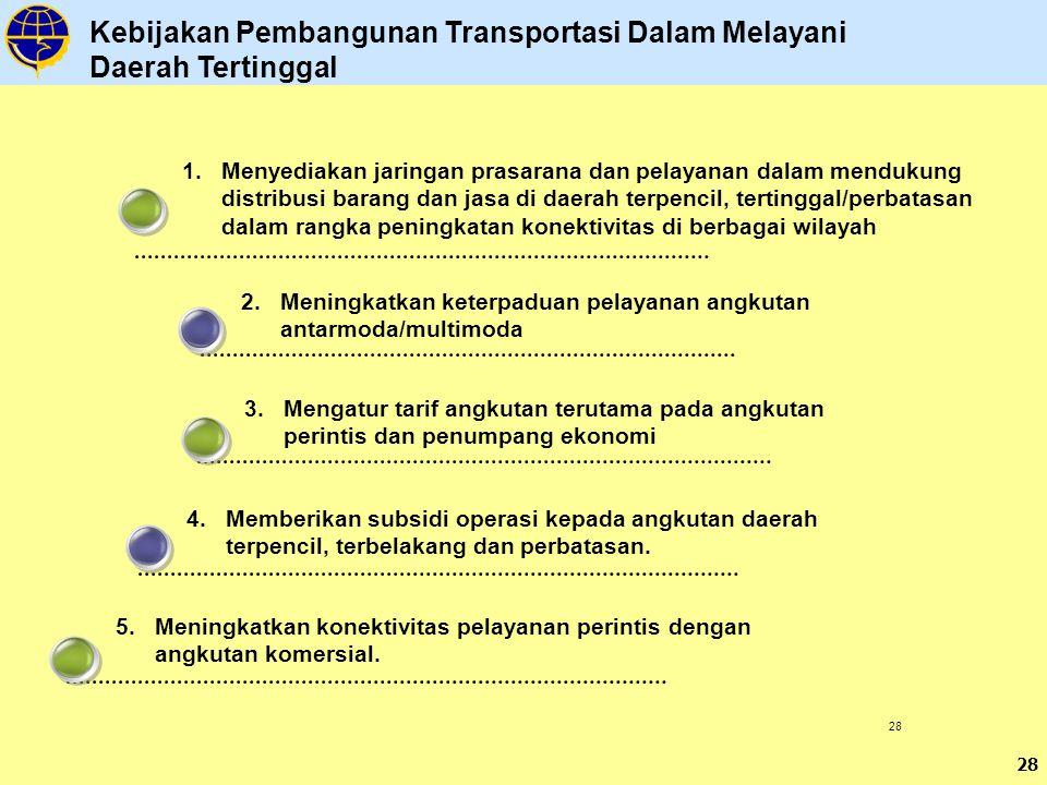 Kebijakan Pembangunan Transportasi Dalam Melayani Daerah Tertinggal