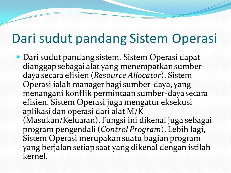 Dari sudut pandang Sistem Operasi