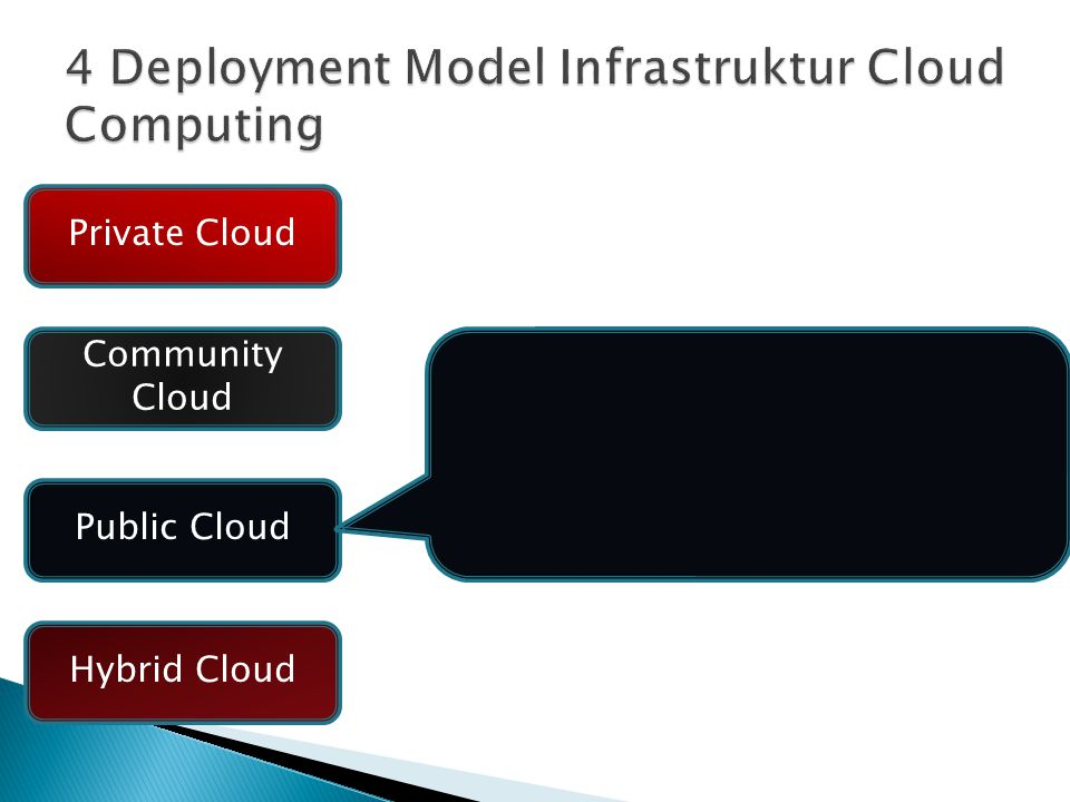 4 Deployment Model Infrastruktur Cloud Computing