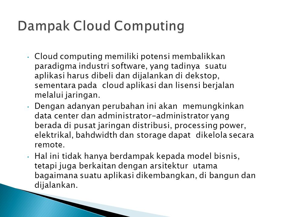 Dampak Cloud Computing